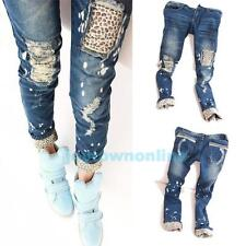 New Fashion Women Leopard Slim Fit Pencil Jeans Trousers Casual Ladies' Pants #J
