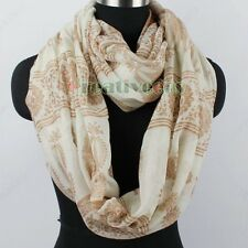 Tribal Style Row Floral&Paisley&Elephants Infinity Loop Cowl Circle Scarf