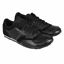 Diesel Mens Matthew Black  Suede & Leather Lace Up Sneakers Shoes