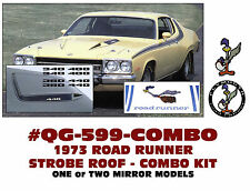QG-599+ 1973 PLYMOUTH ROAD RUNNER - SIDE & ROOF STROBE STRIPE - COMBO