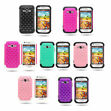 For Samsung Galaxy Ring M840 Prevail 2 Diamond Hybrid Hard + Soft Cover Case