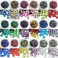 1440pcs(10gross) DMC Iron On Hotfix Crystal Rhinestones Beads Lot SS6 ~ SS20
