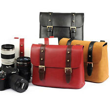PU Leather Waterproof DSLR SLR Camera Shoulder Bag Messenger Bag + Padded Insert
