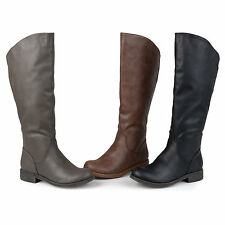 Journee Collection Womens Wide Calf Slouchy Round Toe Boots