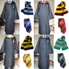 Harry Potter Cloak & Tie&Scarf Gryffindor/Hufflepuff/Slytherin/Ravenclaw Costume