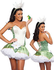 Adult Tiana Princess and the Frog Fairy Tale Fancy Dress Costume 6 8 10 12 14