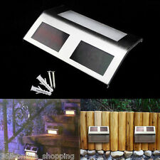 GARDEN SOLAR POWER LED LIGHT PATH DECKING STAIR WALL MOUNTED FENCE STEP LAMP