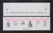 Fairy tale Set of Wine Glass Charms Birthday Wedding Gift Christmas Hen Party