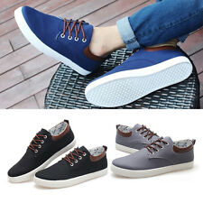 Fashion Mens Classic Casual Canvas Shoes Trainer Athletic Sneakers Lace up New