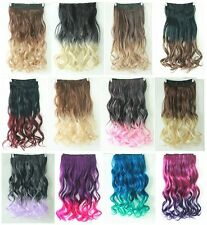 "20"" 22"" Two Tone Straight Curly Wavy One Piece Clip in on Ombre Hair Extensions"