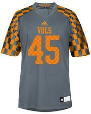 Tennessee Volunteers Youth Adidas 2014 Alternate Gray # 45 Checkerboard Jersey