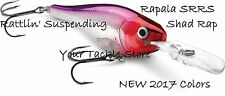 Rapala SRRS05 Rattlin Suspendiing Shad Rap Pick Colors & Qty Factory Direct SRRS