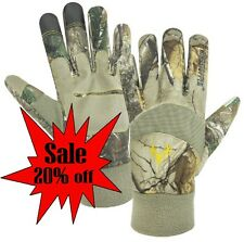 Hunting Gloves THE NEW Real-Tree CAMO FALCON Wind Stopper  Pro-Text #G04-204