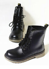 1 Pairs Women Combat Punk Ankle Martin Boot Lace Up Mid Calf Boots Fashion Shoes