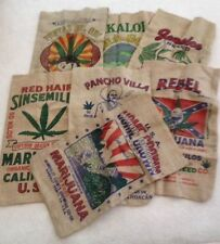 RSHO Sacks CBD Mary Jane Pot Hemp 7 Different Marijuana Oil Burlap Cannabis Bags
