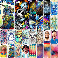 New Colored Drawing Pattern Hard Back Case Cover Skin for iPhone 4 4S 5 5S 5C