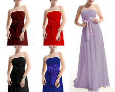New Ladys Formal Long Evening Ball Gown Party Prom Bridesmaid Chiffon Dress 6-18