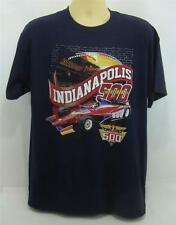 New 2014 Indianapolis 500 Event & All Winners Collector 2-Side Navy Blue T-Shirt