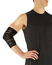 Tommie Copper Men's Performance Compression Elbow Sleeve S-XL Black White Gray