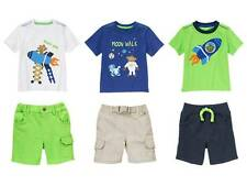 NEW NWT GYMBOREE Stripes in Space Monkey Tee Shirt Shorts Outfit Set 2T 3T 4T 5T