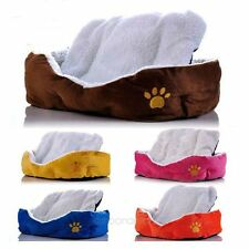 Small Large Pet Dog Puppy Cat Fleece Cozy Warm Nest Bed House Cotton Mat Pad