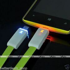 Smart LED Micro USB Charger Light Data Sync Flat Cable for Samsung S3 S4 HTC LG