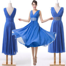 STOCK! ON SALE! CHEAP! Bead Evening Formal Party Ball Gown Prom Bridesmaid Dress