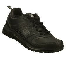 Skechers For Safety Mens Work Shoes Slip Resistant Sole Size 7.5-12 76882BLK