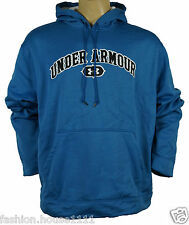 NEW UNDER ARMOUR SOFTSHELL Hooded Sweat Large Embroidered Logo  - Men's - Blue