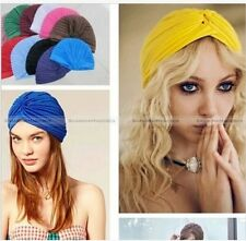 Unisex Indian Style Stretchable Turban Hat Hair Head Wrap Cap Headwrap