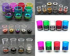 Glass Drip Tips with Color SS Base - Pyrex Drip Tip, Stainless Steel - US Seller