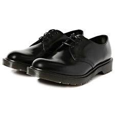 DR MARTENS MADE IN ENGLAND 1461 3 EYE SHOE BLACK BOANIL BRUSH CALF LEATHER