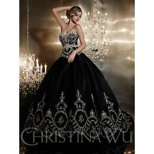 Black Sweetheart Sexy Women Formal Party Long Quinceanera Dresses Ball Gowns