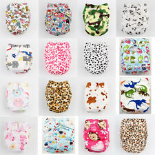 Baby Infant Super-soft Printed Cloth Diaper Reusable Nappy Cover Bamboo Insert K
