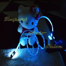 2015 Light-Up LED Lightning USB Flat Charger Cable For iPhone 6 Plus 5S/5C S3 S4