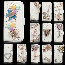 Bling Rhinestone Diamond Flip Wallet PU Leather Case for Apple iPhone 6/6 Plus