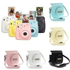 Leather Camera Case Bag Cover For Fujifilm Fuji Instax Mini8 Mini 8 Mini 8s BOS