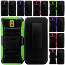 For HTC Desire 610 Cell Phone Case Hybrid Hard Cover Belt Clip Holster Kickstand