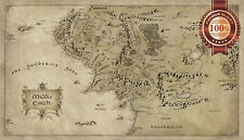 NEW MIDDLE EARTH LORD OF THE RINGS LOTR MAP HOBBIT HOME PRINT ART PREMIUM POSTER