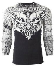 Xtreme Couture AFFLICTION Men THERMAL T-Shirt LEGENDARY Tattoo Biker M-3XL $58