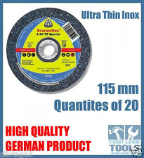 Klingspor 115mm Thin Metal Cutting Discs for Angle Grinder - 25, 50 or 100 Pack
