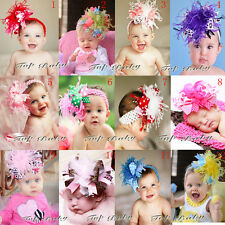Wholesale Baby Feather Pad headband Bow flower hair band FASCINATOR Accessorie
