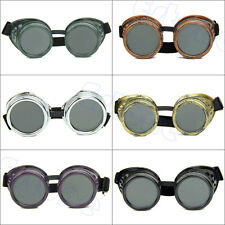 Vintage Victorian Gothic Steampunk Goggles Welding Punk Cosplay Glasses