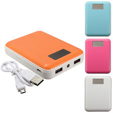 12000mAh LCD Power Bank CaricaBatteria Esterna 2-USB Per Universal iPhone 6 ecc.