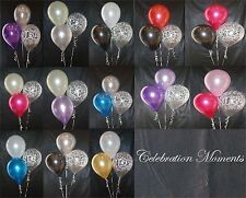 Engagement Wedding Helium Balloon DIY Decoration Clusters 3 Kit, Weights Ribbon