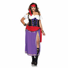 Womens Traveling Gypsy Plus Size Costume Renaissance Pirate Cosplay Size 1X - 4X