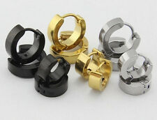 lots new Stainless steel rings men's Jewelry Earring Smooth Surface solid colors