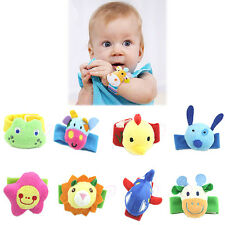 Soft Baby Infant Kid Handbell Animal Wrist Rattle Bell Musical Education Toy