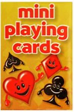 1-20 Packs of Mini PLAYING CARDS small Patience Solitaire 53x32mm Party Bag Toy