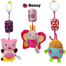 Baby Infant Plush Hand Bells Crib Bed Stroller Hang Rattles Music Developmental